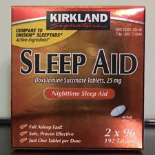 Kirkland Signature Sleep Aid, 25 mg. 192 Tablets (ORIGINAL PACKAGING)
