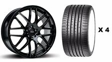 """18"""" B DTM Llantas De Aleación + Neumáticos se ajusta Volvo C30 C70 S70 S60 S80 V70 XC60 XC90"""