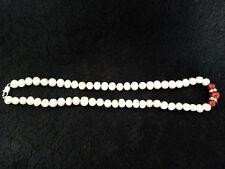 Collier de perles  naturelles d'eau douce 8-9 mm blanche