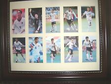 UNITED STATES SOCCER PLAYERS  (10 small pictures  in a matte and framed)