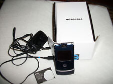 MOTOROLA RAZR V3  T-MOBILE CELL PHONE BLUE COLOR  FOR PARTS - USED
