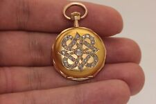 ANTIQUE ORIGINAL 14K GOLD DIAMOND DECORATED AMAZING EUROPEAN POCKET WATCHES