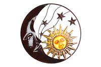 Zeckos Celestial Metal Moon Sun and Stars Wall Art Hanging