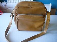 sac de voyage vintage besace simili cuir marron vintage 70's