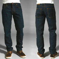 Nudie Herren Regular Tapered Fit Bio Denim Jeans Hose Sharp Bengt Recycle Dark