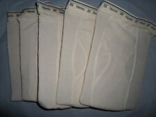 Lot 5 Pairs HANES MENS THERMAL ECRU OFF-WHITE LONG JOHNS ANKLE PANTS UNDERWEAR S