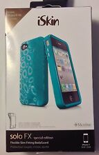 iSkin Solo FX Special Edition  Case for iPhone 4 4S Bondi Blue New In Box
