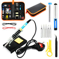 UK Soldering Iron Kit Electronics Welding Irons Tool 60W Adjustable Temperat ATP