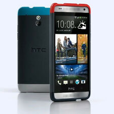 Genuine HTC One Mini M4 Double DIP Hard Shell Case Cover Grey Red Bule - HC C850