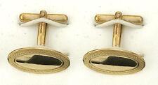 ORO MACIZO Gemelos Contraste hecho a mano en el Birmingham Jewellery Quarter