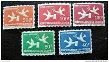 GUINEE - timbre - yt aérien n°4 à 8 n** - stamp guinea