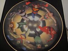 Warner Liga de la Justica Coleccionista Placa Superman Batman por Alex Ross #984