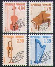 Francia 1989 Instrumentos Musicales/Pre-cancela/piano/Violin/Trompeta/Arpa 4 V n35189