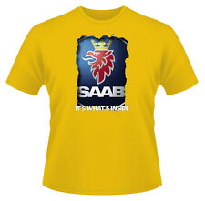 Mens Funny T-Shirt, It's Whats Inside SAAB, Ideal Gift or Birthday Present.