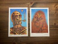Emek Star Wars 420 PO Offbrand Wook Signed Print Set Chewbaca C3po R2D2 XX/500