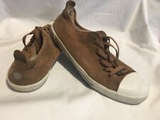 UGG Women's Evera 1888 Brown Suede shearling Lined Sneakers Tennis Shoes