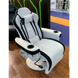 PC Gaming Chair Swivel High Back Racing Ergonomic Leather Office White Model New