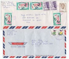 1987 & 1997 PHILIPPINES - 2 x Air Mail Covers To LONG BEACH & MONUMENT USA