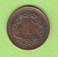 Schweiz 1 Rappen 1880 seltener Jahrgang hübsch nswleipzig