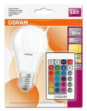 Ampoule GLS LED 9w = 60w Dimmable RGBW ES E27 avec télécommande (Ledvance)