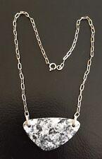 Hübsche 800er Silber Kette mit Steinanhänger