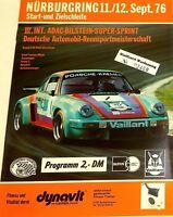 11 12. Sept.76 ADAC BILSTEIN Super Sprint Nürburgring Brochure de Programme Å