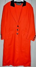 Louis Feraud Red Wool Coat Vintage Size Eu: 42 Us:12 Mint