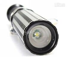 Security CREE Q5 LED Torch Zoomable Extendable Flashlight Alloy Full Kit