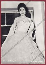 GINA LOLLOBRIGIDA 39a ATTRICE ACTRESS CINEMA MOVIE STAR Cartolina FOTOGRAFICA