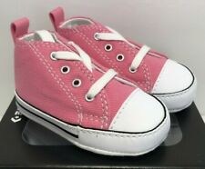 Converse Infant Size 2 First Star Pink Canvas Crib Soft Bottom Shoes 88871