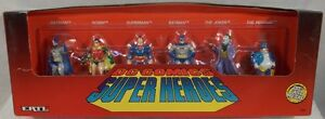 DC Comics Super Heroes Ertl Die-Cast Set Batman Superman Robin Joker Penguin MIB