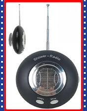 New Mini Portable Shower Bathroom Camping Fm Scan Radio