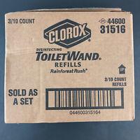 Clorox Disinfecting Toilet Wand Refills 44600 31516 30 pcs Rainforest Rush HG55
