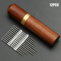 Stainless Steel Self-threading 12Pcs Needles Opening Sewing Darning Needles