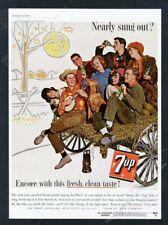 1962 vizsla dog hayride photo 7Up 7-Up soda vintage print ad