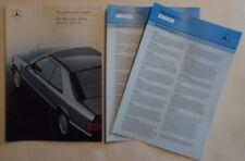 MERCEDES BENZ 230CE & 300 CE COUPES orig 1987 UK Mkt Sales Brochure + Specs