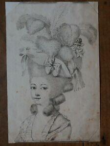 MARIE ANTOINETTE D'AUTRICHE (1755-1793)-REINE DE FRANCE-GRAVURE ORIGINALE XIXEME