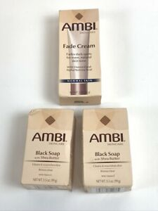 Ambi Fade Cream & Black Soap with Shea Butter NOS - 2 Oz Normal Skin