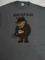 Freddy Krueger A Nightmare On Elm Street Coffee Never Sleep Movie Horror T-Shirt