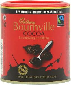 Cadbury Bournville Cocoa Powder 125g –Pack of 1, 2, 6 or 12–Baking, Hot Drinking