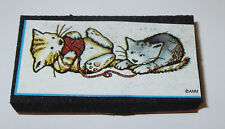 Kittens Yarn Rubber Stamp Cats Playing All Night Media Foam Mounted New Retired