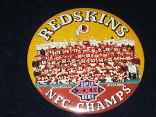 Vintage 1988 Washington Redskins button pin Super Bowl Xxii collectible