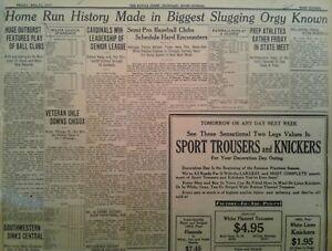 1930 Baseball Homerun History Babe Ruth Lou Gehrig Set New Records Yankees