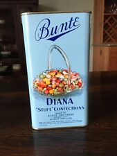 Vintage Bunte Diana Filled Confections 3lb Candy Tin