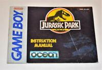 MANUAL ONLY Jurassic Park Original Nintendo Gameboy Instruction Booklet