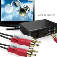 2 RCA Male to 2 RCA Male Audio Stereo Cable 6ft 12ft 25ft 40ft for DVD HDTV