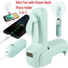 Portable USB Rechargeable Mini Pocket Fan Handheld Desk Fan Power Bank for Phone