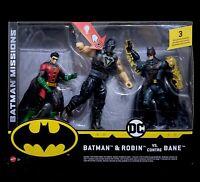 DC Comics Batman Missions Batman e Robin vs. Bane Action Figure Mattel