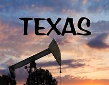 METAL MAGNET Oil Rig Oil Gas Industry Travel Texas USA MAGNET