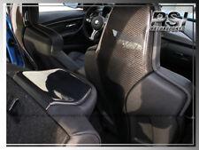 3K Carbon Fiber Front Seat Back Trim Covers 4 PCS For 14-16 BMW F80 M3 / F82 M4